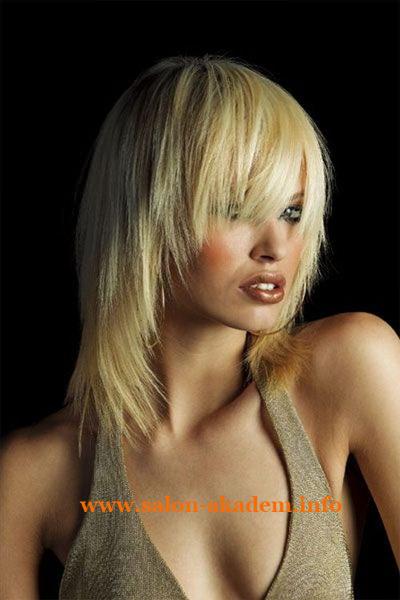 Прическа каскад на средние волосы фото