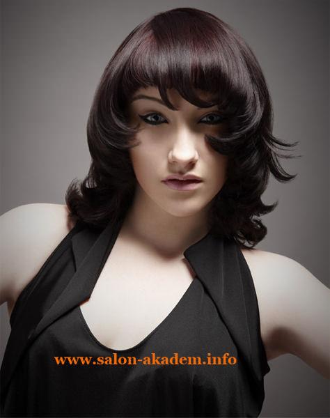 Варианты каскада на средние волосы