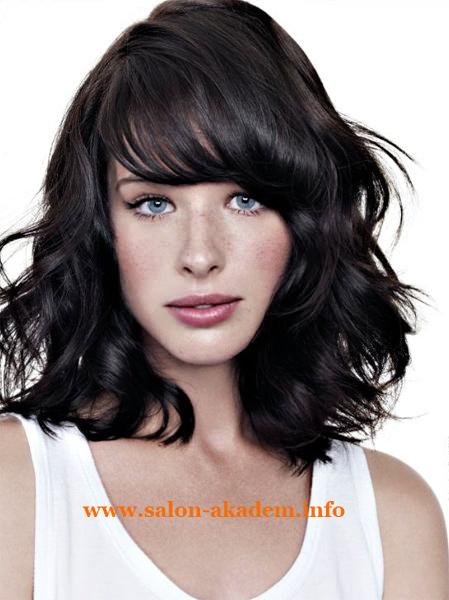 Каскад на средние вьющиеся волосы фото