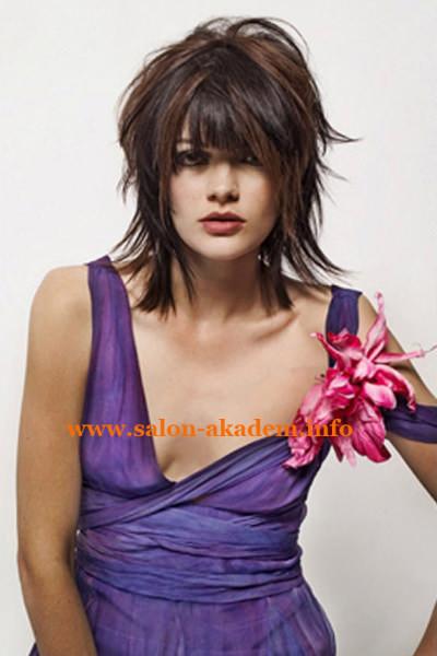 Женская прическа каскад на средние волосы