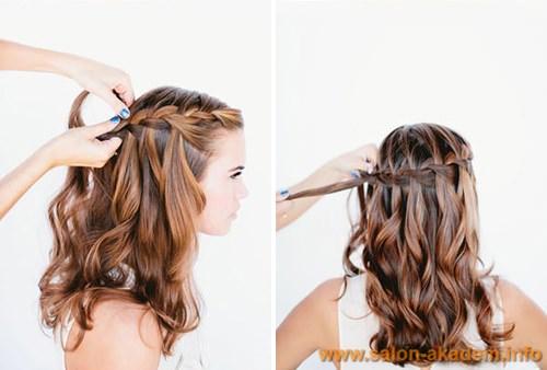 Как заплести косу водопад схема