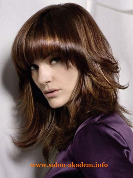 Каскад на средние волосы фото