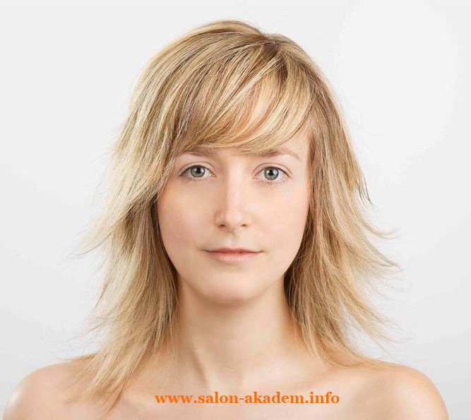 Рваный каскад на средние волосы фото
