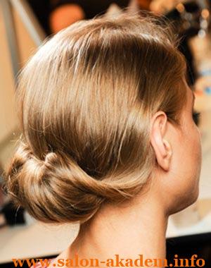 Французская ракушка на короткие волосы
