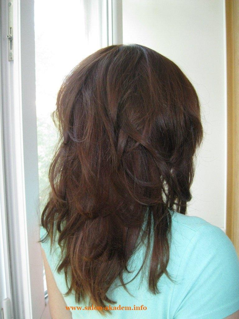 Прически на средние волосы вид сзади