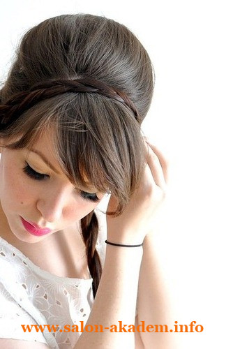 Технология выполнения плетения на волос