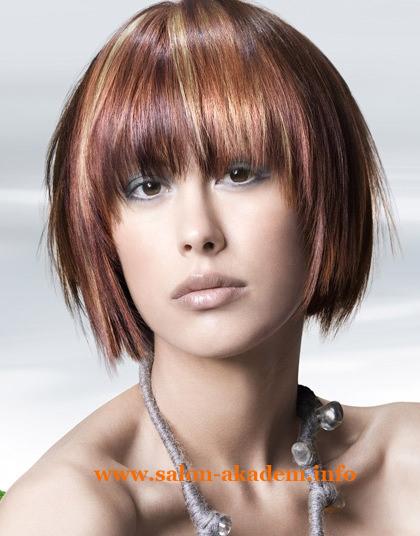 Стрижки каскад на короткие волосы фото с челкой