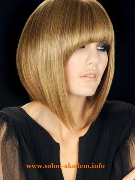 Стрижка боб на средние тонкие волосы