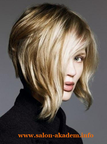 Прическа боб на средние волосы