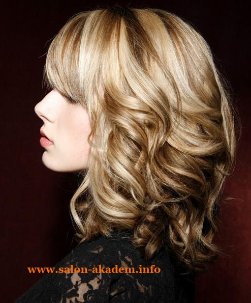 Стрижка длинный боб для вьющихся волос