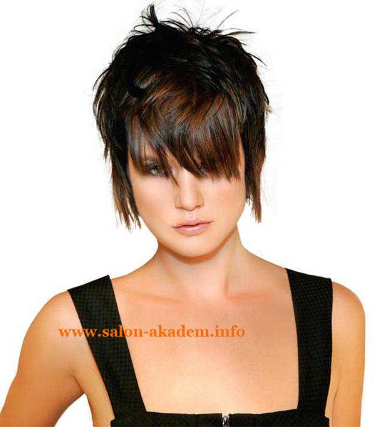 Каскад на короткие волосы женские