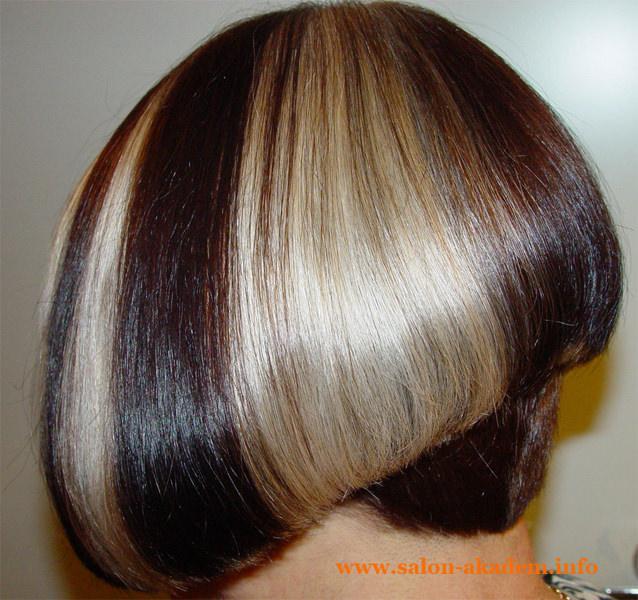 Стрижка боб на средние волосы фото сзади