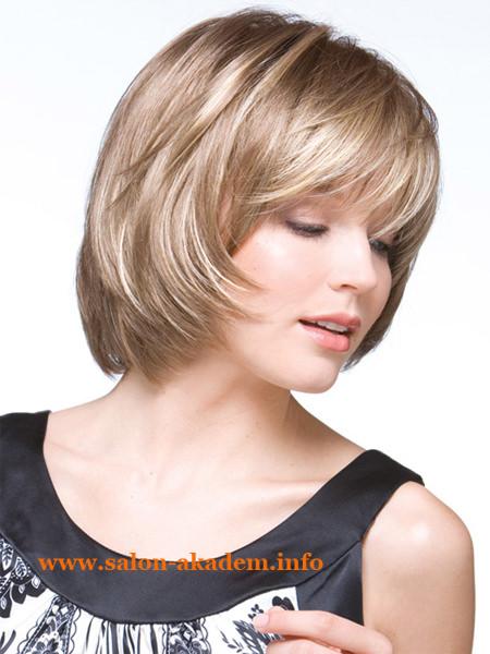 Прическа каскад на короткие волосы без челки