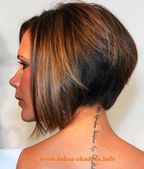 Стрижки боб на средние волосы вид сзади