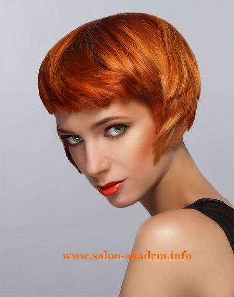 Градуированный боб на средние волосы фото