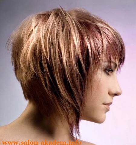 Градуированный каскад на короткие волосы