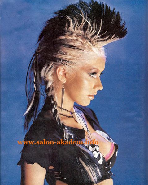 Панк прическа длинные волосы