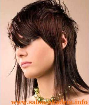 Двойной каскад на короткие волосы