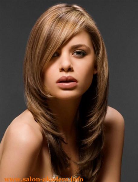 Прическа на длинные волосы с челкой фото