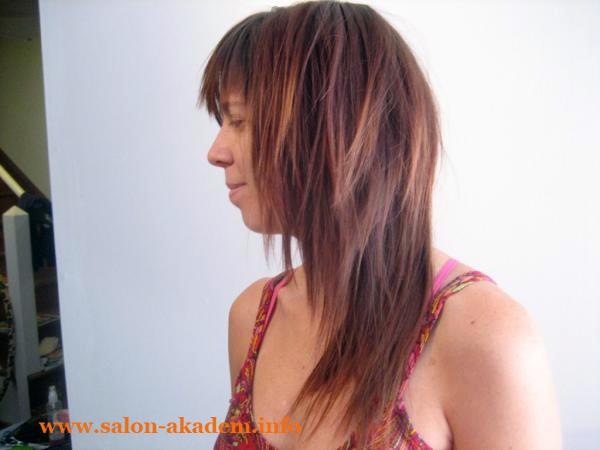 Каскад лесенка на длинные волосы