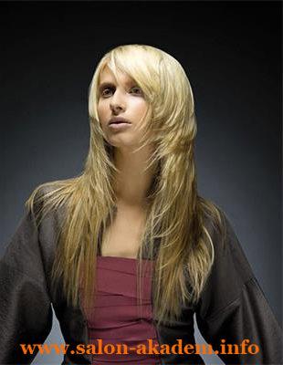 Каскад или лесенка на длинные волосы