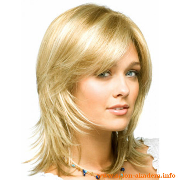 Прически на средние волосы фото с челкой