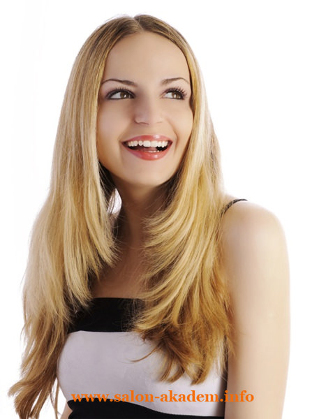 Прическа каскад на длинные волосы без челки фото