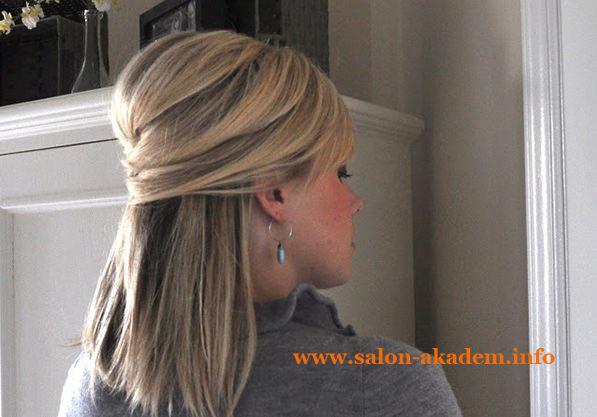 Мальвинка для средних волос