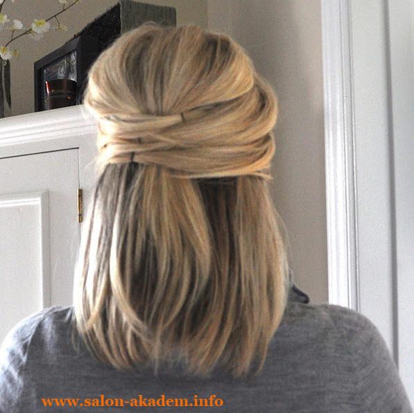 прическа мальвинка на средние волосы