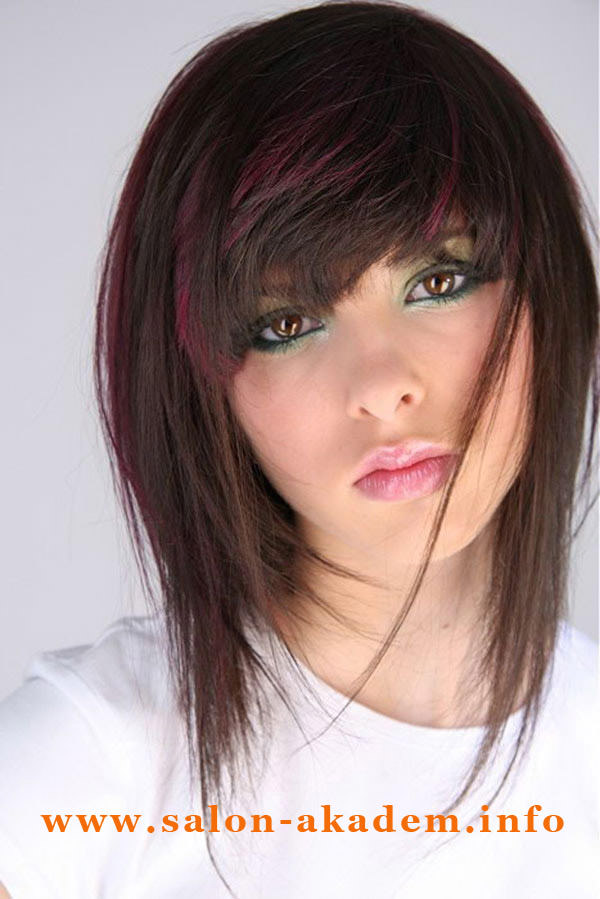 Стрижка итальянка фото на волосы средней длины