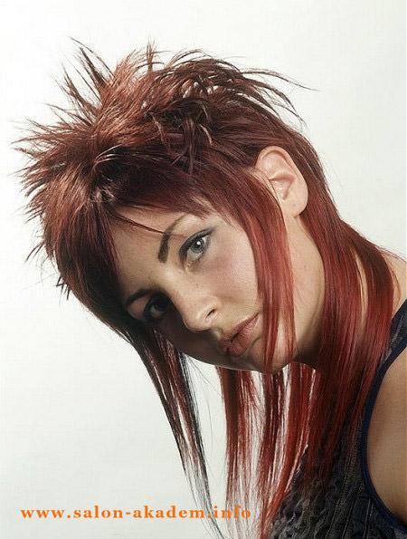 Прическа гаврош на длинные волосы