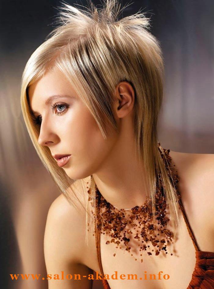 Прическа гаврош на средние волосы фото