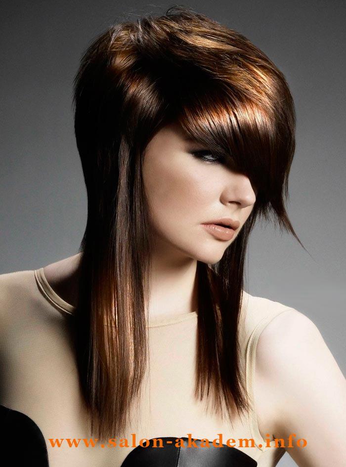 Стрижка шапочка на длинные волосы с челкой